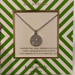 NWTs silver Kate spade necklace